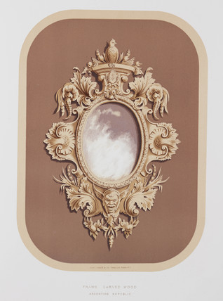 Carved wood frame, Argentinean, 1876.