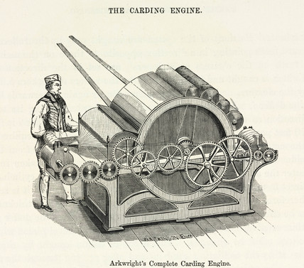 'Arkwright's Complete Carding Engine', 1873.