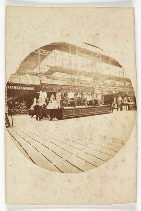 Eastman Dry Plate & Film Co trade stand, c 1889.