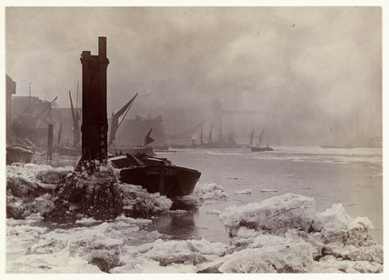 The Thames in winter, 1894.