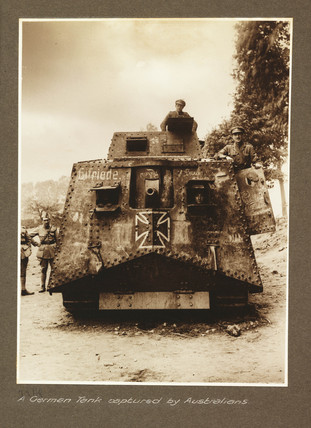 'A German Tank captured by Australians', 1918.