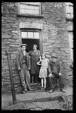 Welsh miner and his family, 1931.