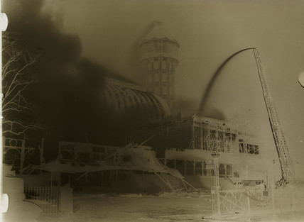 Crystal Palace on fire, 30 November 1936.