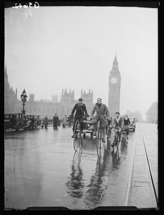 Penny Farthing cyclists, 1938.