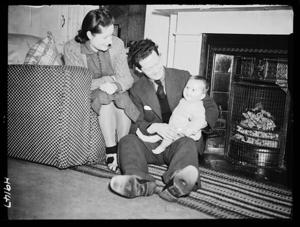 Couple with baby, 1940