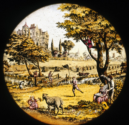 Country scene, mid 19th century.