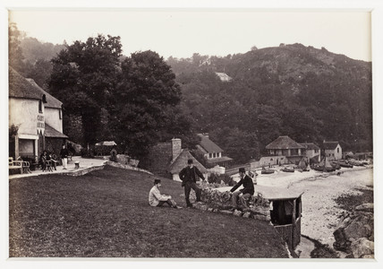 'Torquay, Babbicombe Bay, from the Inn', c 1880.