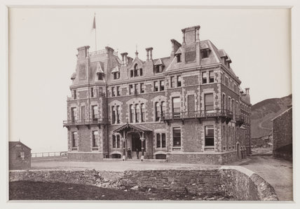 'The Queen's Hotel, Aberystwyth', c 1880.