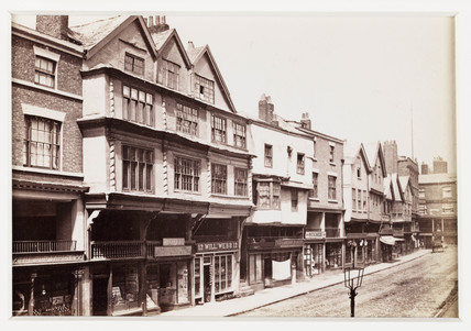 'Chester, Old Houses in Bridge Street', c 1880.