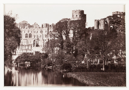 'Warwick Castle, General View', c 1880.