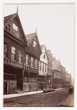 'Chester, View in Watergate Street', c 1880.