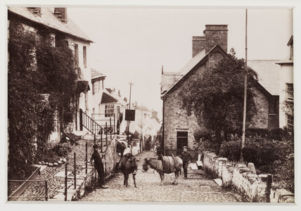 'Clovelly, View Down Street', c 1880.