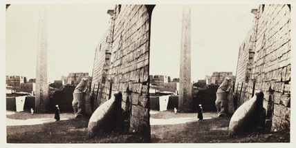 'The Temple of Luxor, Thebes - The Obelisk', 1859.