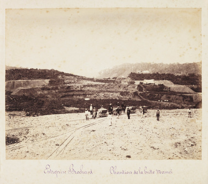 Panama Canal construction site, c 1885.