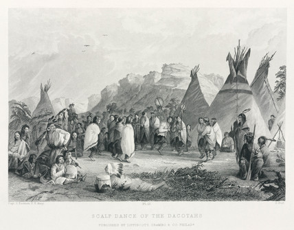 'Scalp Dance of the Dacotahs [sic]', North America, 1847.
