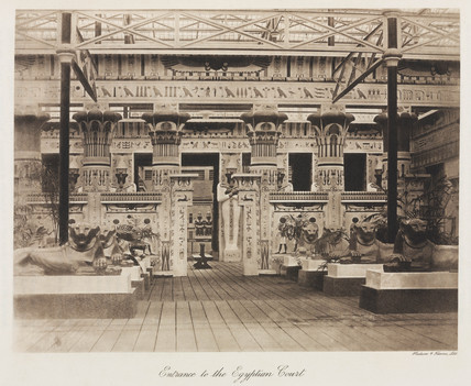 Egyptian Court, the Crystal Palace, Sydenham, London, 1911.