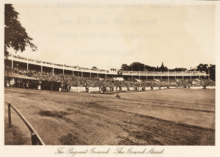 Grandstand at the Pageant Ground, Crystal Palace, Sydenham, 1911.