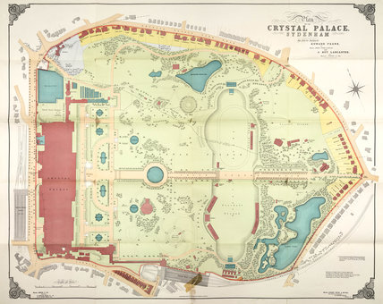 Plan of the Crystal Palace and grounds, Sydenham, 1911.