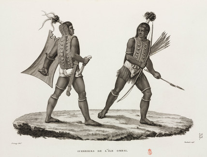 Warriors from the island of Ombai, 1817-1820.