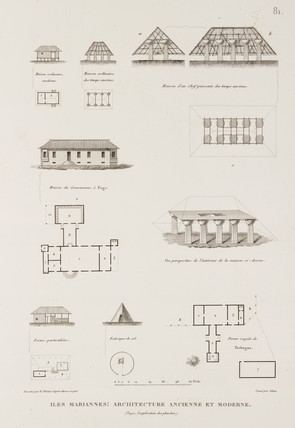 Various types of buildings, Mariana Islands, 1817-1820.