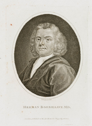 Herman Boerhaave, Dutch physician, chemist and botanist, early 18th century.