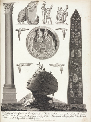 The Sphinx at Gizeh, Pompey's Pillar and Cleopatra's Needle, 1804.