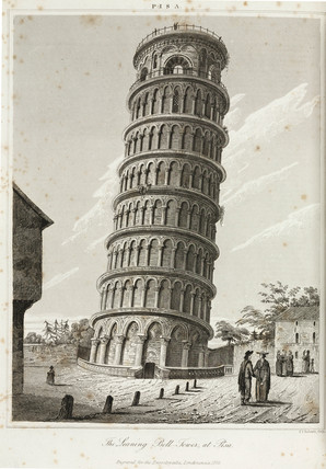 'The Leaning Bell-Tower, at Pisa', 1824.