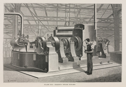 Edison's steam dynamo, 1891.