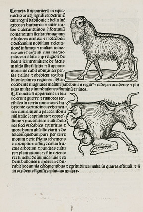 Aries the ram and Taurus the bull, 1489.