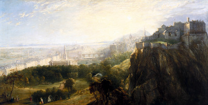 View of Edinburgh, Scotland, mid 19th century.