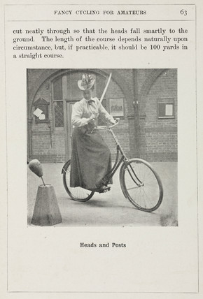 'Heads and Posts', trick cycling, 1901.