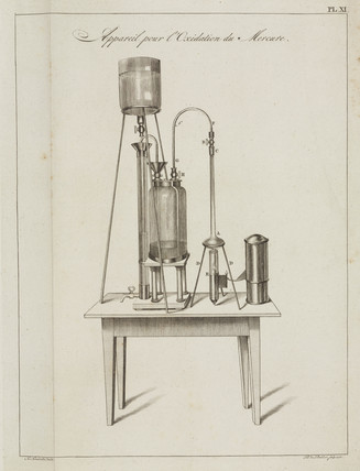 Apparatus for oxidising mercury, 1798.