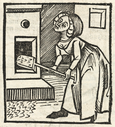 Woman with a shovel, 1497.