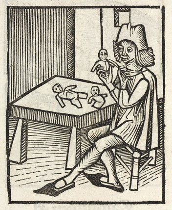 Man making dolls, 1497.