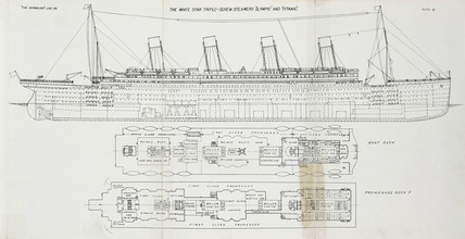 White Star Line triple-screw steamers 'Olympic' and 'Titanic', 1911.