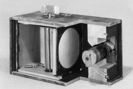 Kodak No 1 roll film camera, sectioned, 1888  by ScM Photo