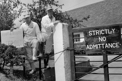 Stockmen happy to see the end of foot and mouth infestation, 14 June 1968.