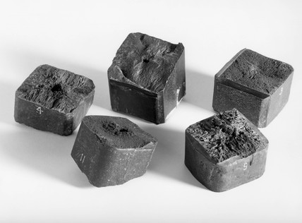 Ingot of maganese steel, 1882-1884.