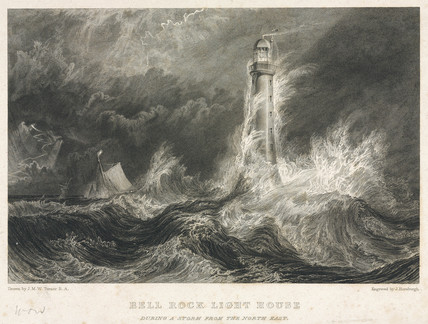 Bell Rock Lighthouse, Scotland, c 1811.