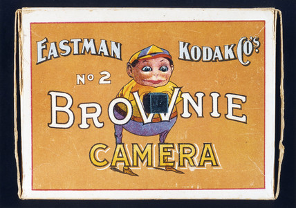 'Brownie No 2 Camera', illustration on Kodak Brownie camera box, c 1910.
