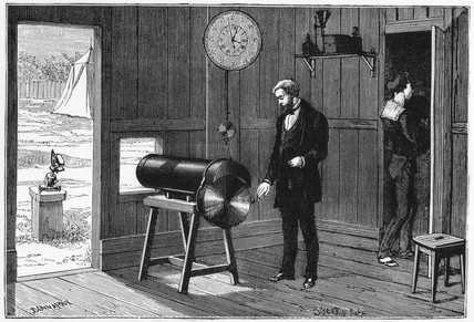 Jansen photographing the Transit of Venus, 1874.
