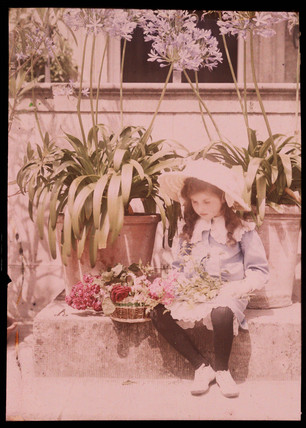 Autochrome of a young girl, c 1910.