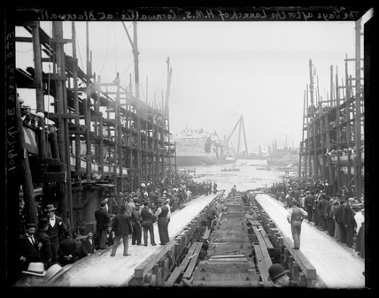 'The Ways After The Launch of HMS Cornwallis At Blackwall', London, 1901.