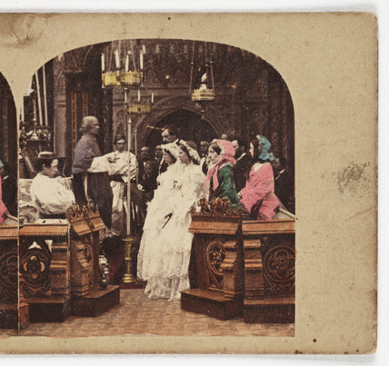 A Marriage, c 1875.