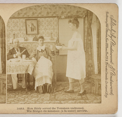 How Biddy served the Tomatoes undressed', 1891.
