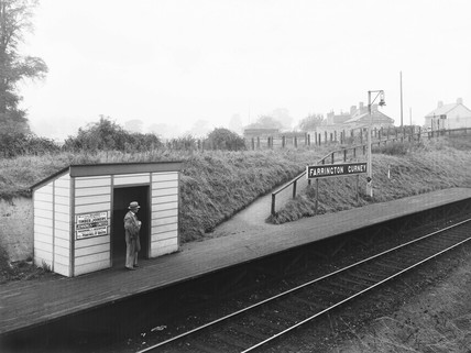Great Western Railway halt at Farrington Gurney, Somerset, 1936.