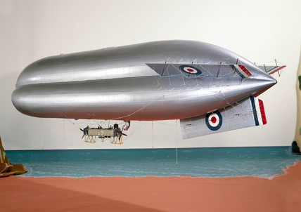 Royal Navy C23 Coastal Airship, c 1917.