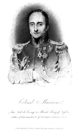 Colonel Francis Macerone, British soldier and mechanical inventor, 1822.