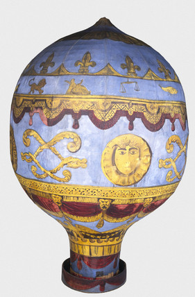 Model of Montgolfier balloon.
