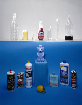 Polythene, polyvinylchloride (PVC) and PET bottles, 1950-1980.
